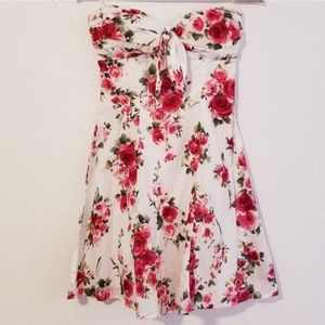 Forever 21 Strapless Floral Midi Dress